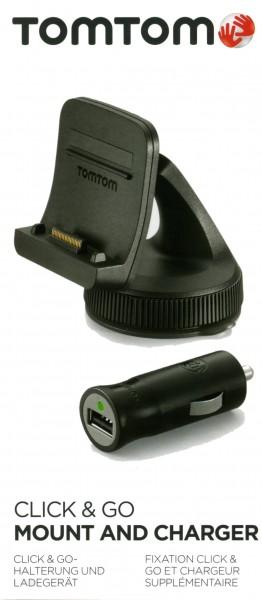 TomTom Zusatzhalterung für GO 500/5000 und GO 600/6000 mit Autoladekabel