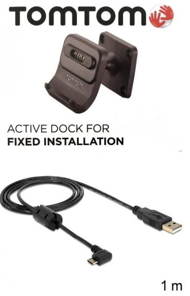 TomTom Fixed Installation XXDock  f. TomTom GO 520/5200/620/6200 + USB Ladekabel