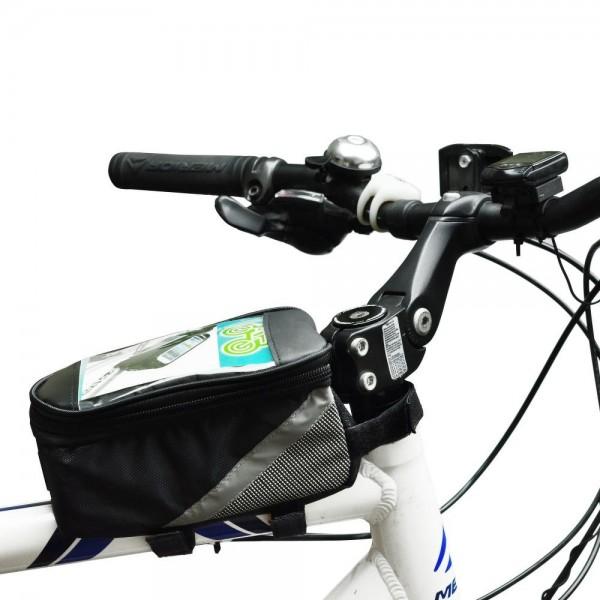 Fahrradtasche Rahmentasche f. iPhones, Handys bis 5,5 inch 13,97 cm