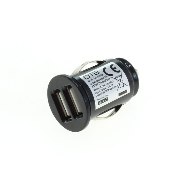 USB High Speed Auto-Doppelladeadapter f. TomTom Via 125