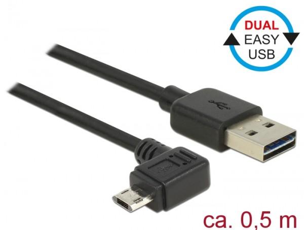 EASY-USB Datenkabel Ladekabel Winkel 0,5m f. Garmin Edge 1000
