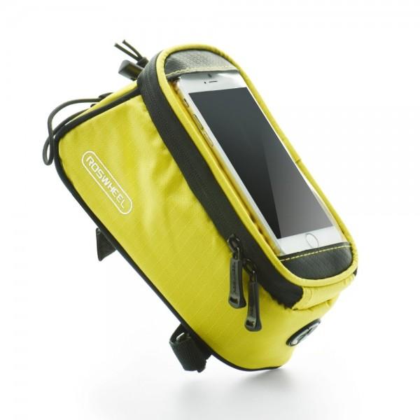 Fahrradtasche Case gelb f. Android Smartphones